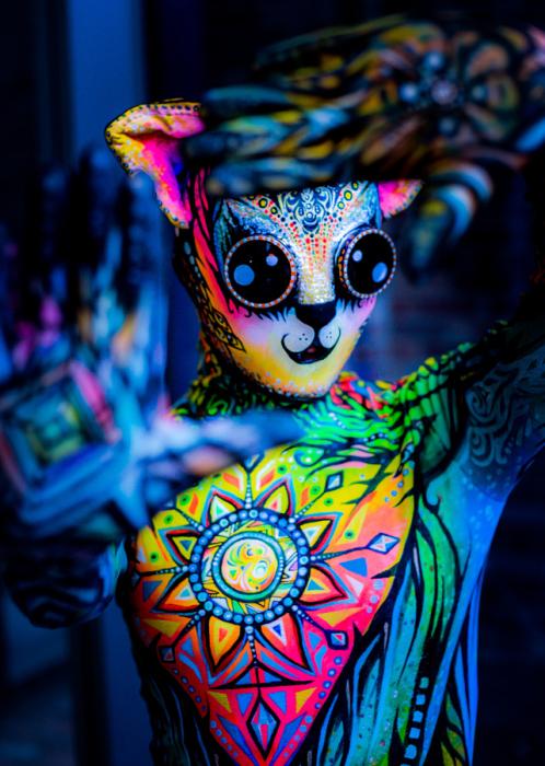 Фестиваль боди-арта Circus North. Торонто. Гипнотизирующий. Автор фото: Nippun Goyal.