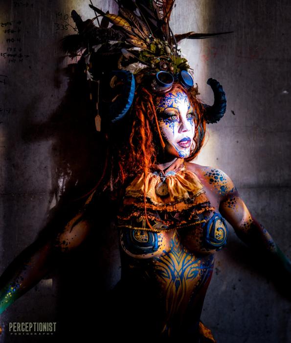 Фестиваль боди-арта Circus North. Торонто. Заблудившаяся. Автор фото: Nippun Goyal.