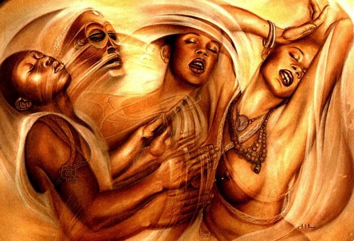 Картины заирского художника Клоди Хана (Claudy Khan).