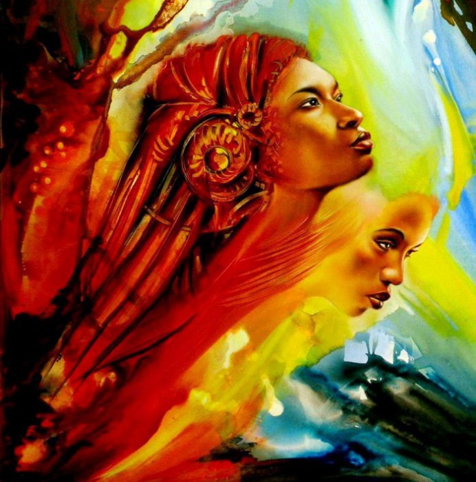 Автор картин: заирский художник Клоди Хан (Claudy Khan).