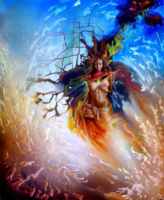 Эмоционально-яркие картины заирского художника Клоди Хана (Claudy Khan).