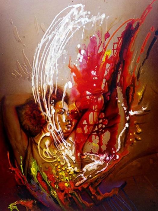 Автор: заирский художник Клоди Хан (Claudy Khan).
