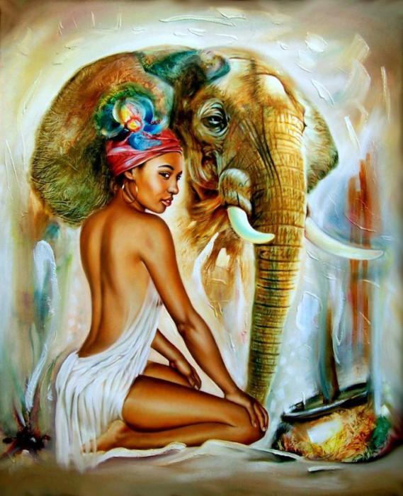 Впечатляющие картины заирского художника Клоди Хана (Claudy Khan).