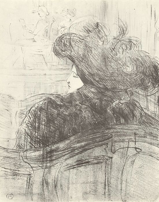 Клео де Мерод, Анри де Тулуз-Лотрек, 1898 год. \ Фото: pinterest.es.