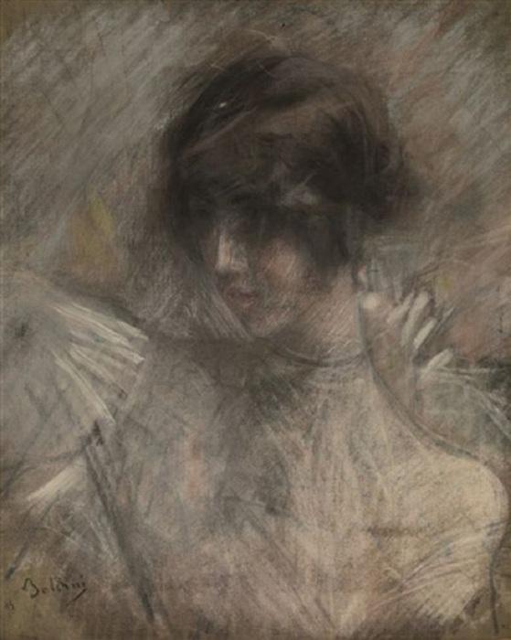Дж. Болдини «Портрет Клео де Мерод», пастель. \ Фото: deartibus.it.
