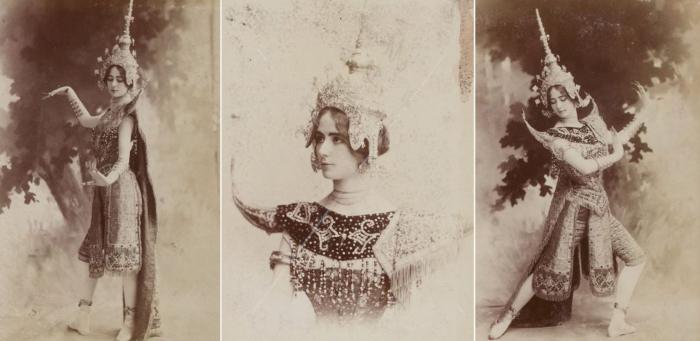 Клео де Мерод исполняет камбоджийский танец на Международной Выставке в Париже 1900 года. \ Фото: lapersonne.com.