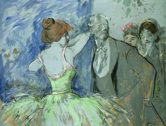 За кулисами, Жан-Луи Форен, 1900-е годы. \ Фото: arthive.com.