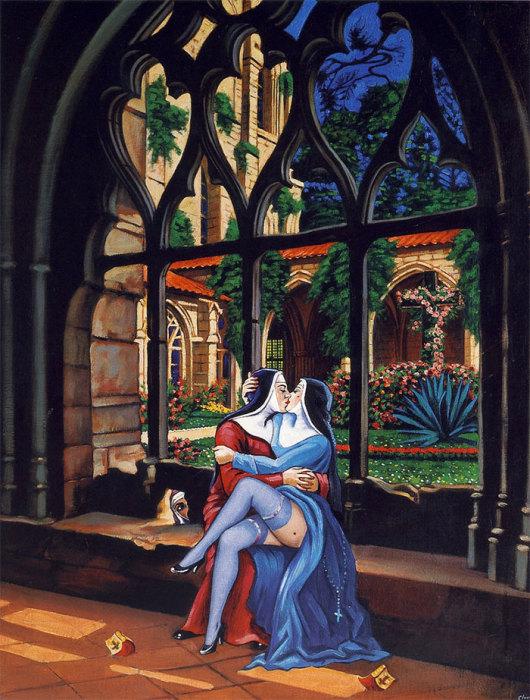 Монастырь мечты. Автор: Clovis Trouille.