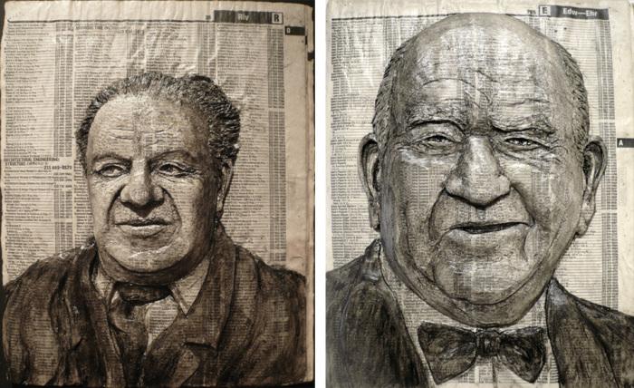 Портреты на страницах телефонной книги. \ Фото: issueno206.com.