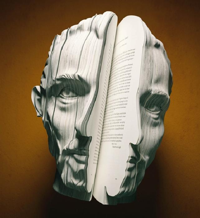 Книжные портреты. \ Фото: mymodernmet.com.