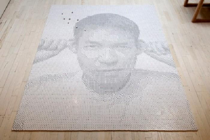 Портрет из игральных костей. \ Фото: google.com.