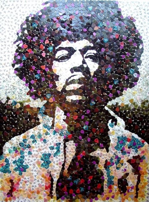 Портрет Джимми Хендрикса. \ Фото: mymodernmet.com.
