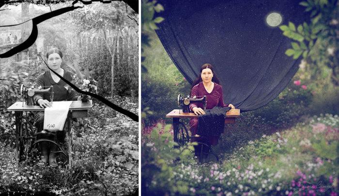 Швея. Автор фото: Костикэ Аксинте (Costica Ascinte). Ретушь: Джейн Лонг (Jane Long).