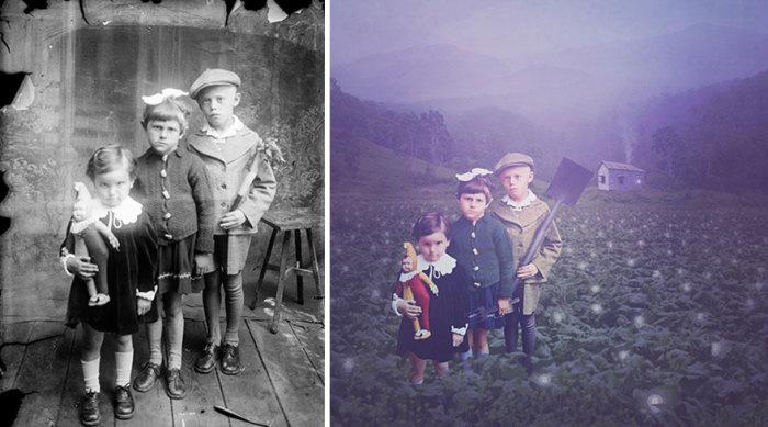 Новая жизнь старого снимка. Автор фото: Костикэ Аксинте (Costica Ascinte). Ретушь: Джейн Лонг (Jane Long).
