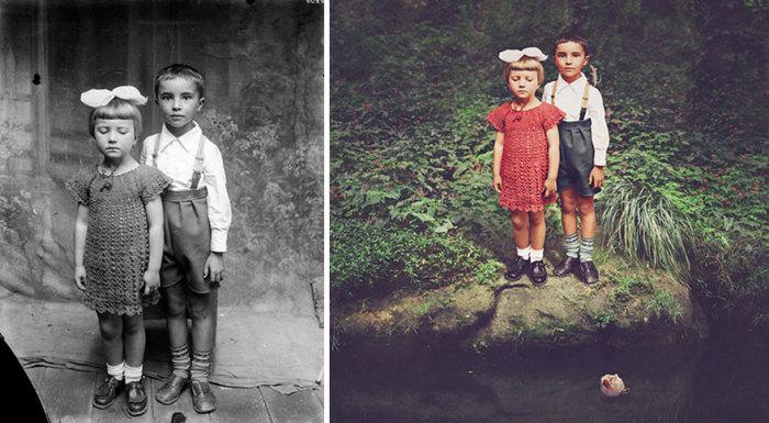 Дети. Автор фото: Костикэ Аксинте (Costica Ascinte). Ретушь: Джейн Лонг (Jane Long).