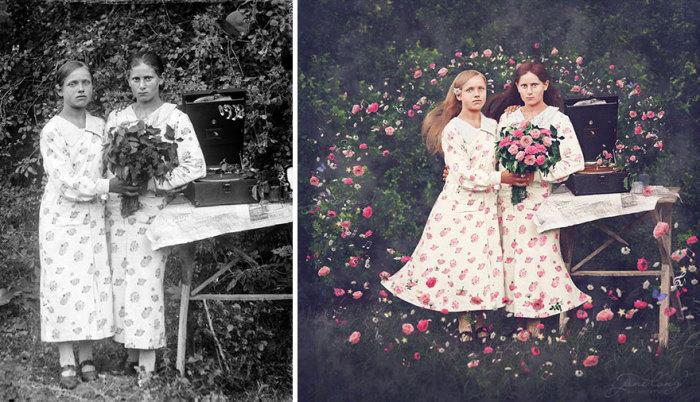 Сестры. Автор фото: Костикэ Аксинте (Costica Ascinte). Ретушь: Джейн Лонг (Jane Long).