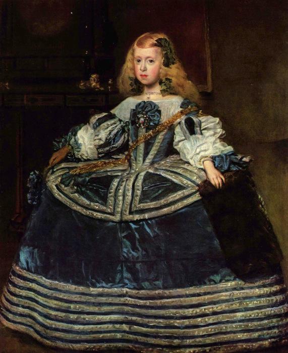 Портрет инфанты Маргариты в синем платье. \ Фото: lucyrosewilliams.com.