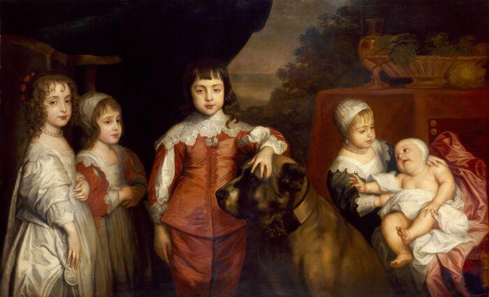 Пятеро детей короля Карла I 1637 год. \ Фото: pinterest.nz.