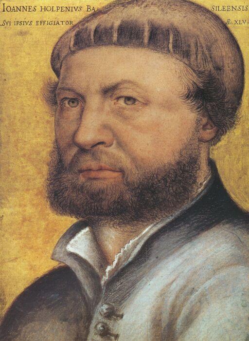 Автопортрет, Ганс Гольбейн Младший, 1542 год. \ Фото: lewebpedagogique.com.