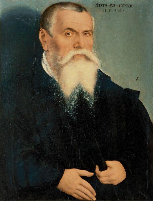 Лукас Кранах Старший, Автопортрет, 1550 год. \ Фото: livejournal.com.