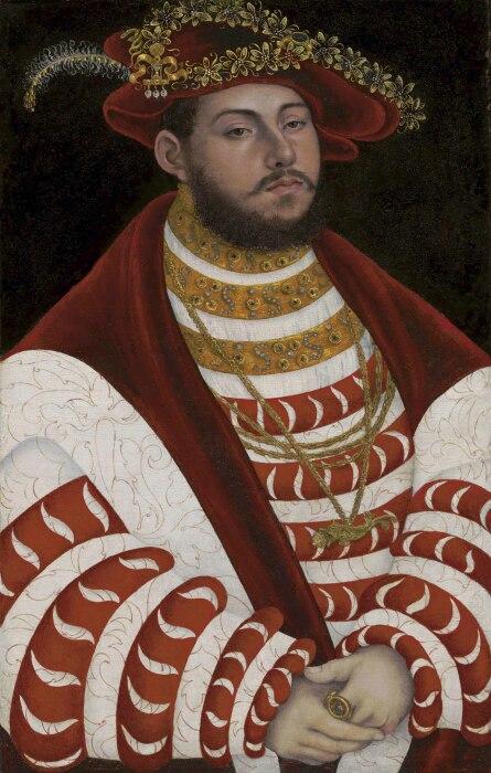 Портрет Иоанна Фридриха I, курфюрста Саксонского. \ Фото: christies.com.