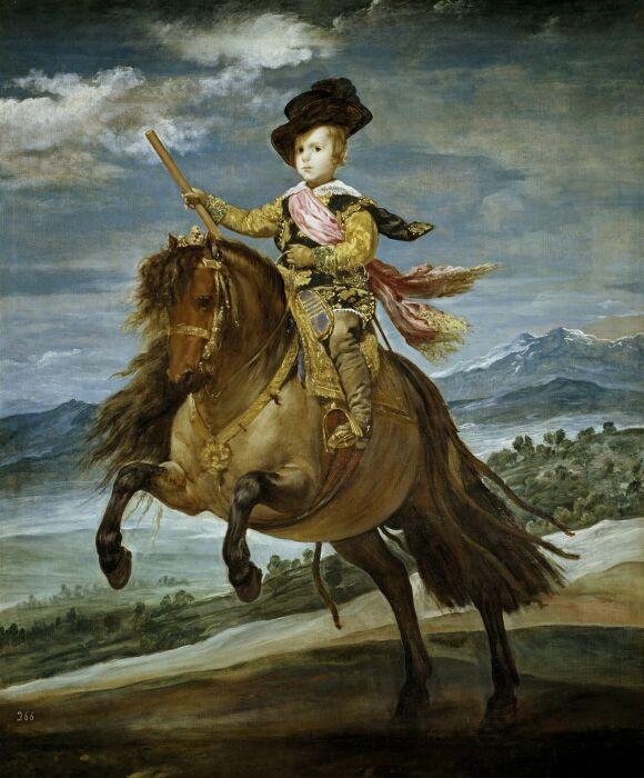 Конный портрет инфанта Бальтасара Карлоса. \ Фото: pinterest.co.uk.