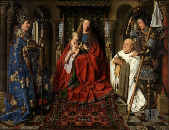 Мадонна каноника ван дер Пале, 1436 год. \ Фото: bigartshop.ru.