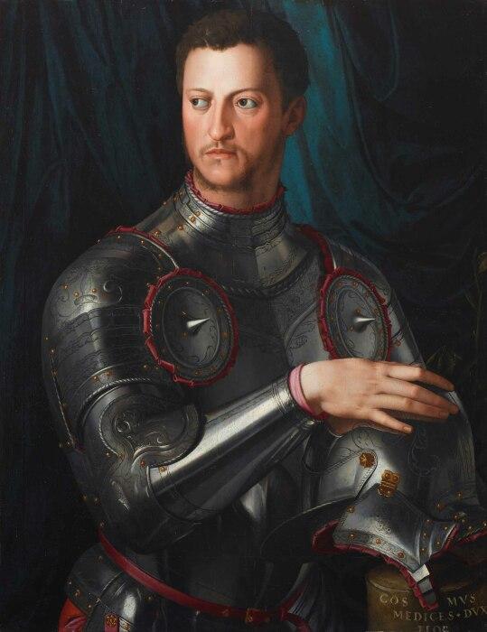 Портрет Козимо I Медичи в доспехах. \ Фото: divagancias.com.