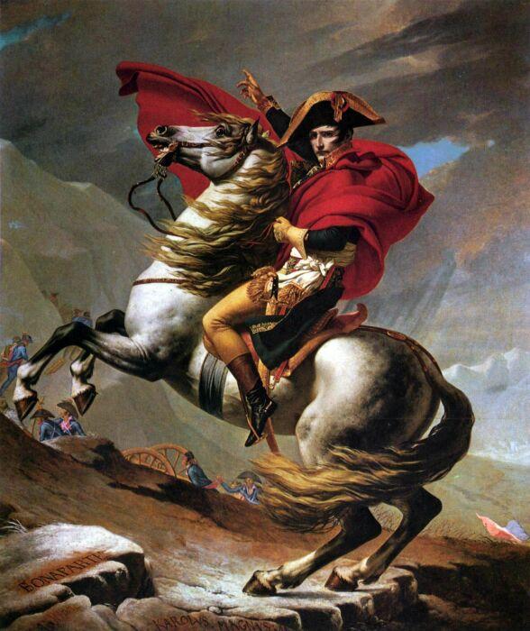 Наполеон на перевале Сен-Бернар I. \ Фото: pinterest.com.