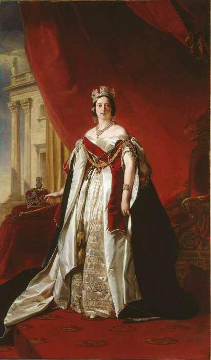 Портрет королевы Виктории. \ Фото: pinterest.ru.