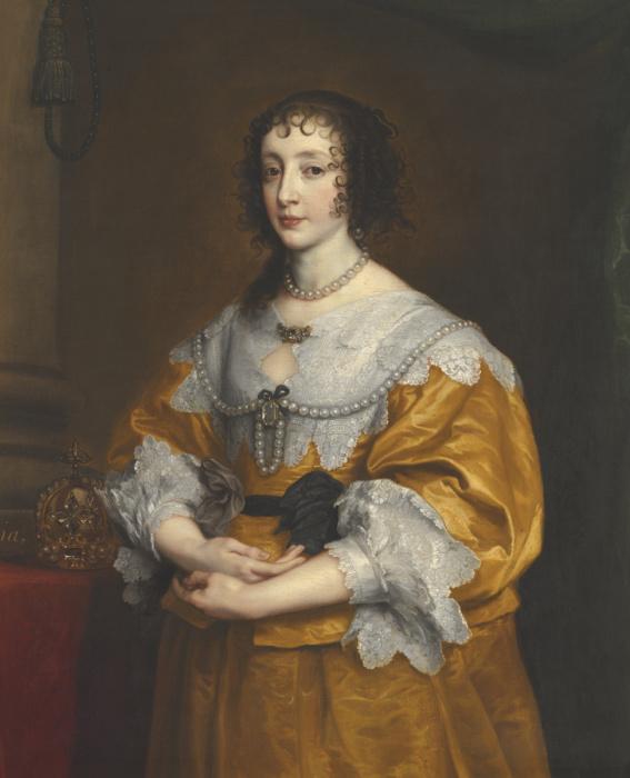 Королева Генриетта Мария, 1635 год. \ Фото: liveinternet.ru.