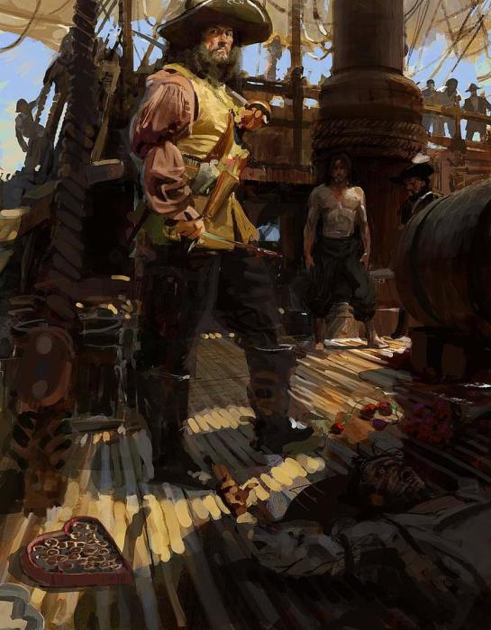 Игра «Пираты Карибского моря: Кровь капитанов». Автор: Craig Mullins.