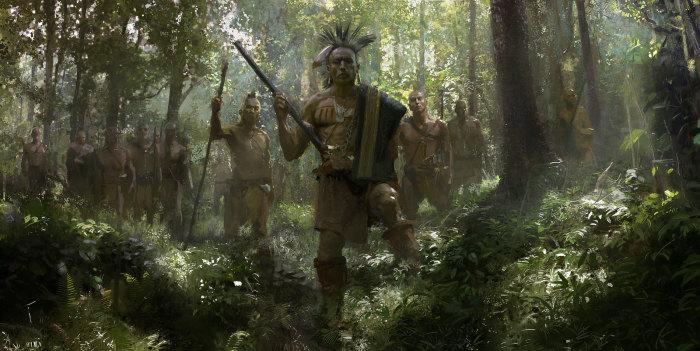 Воины племени ирокезов. Автор: Craig Mullins.