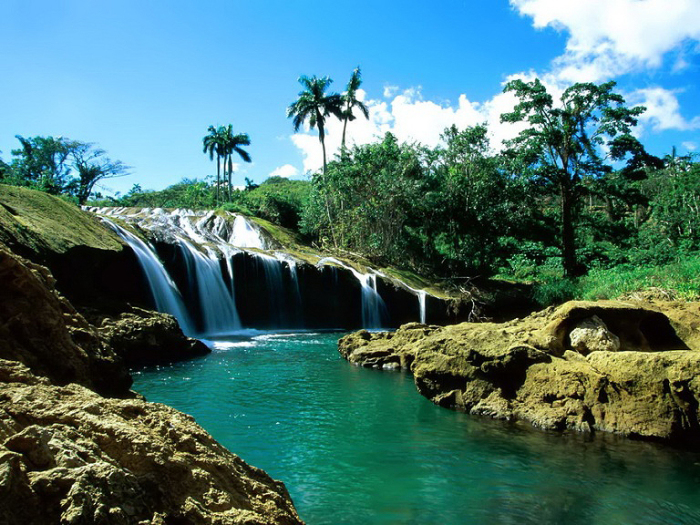 Водопад Эль Ничо. Куба.