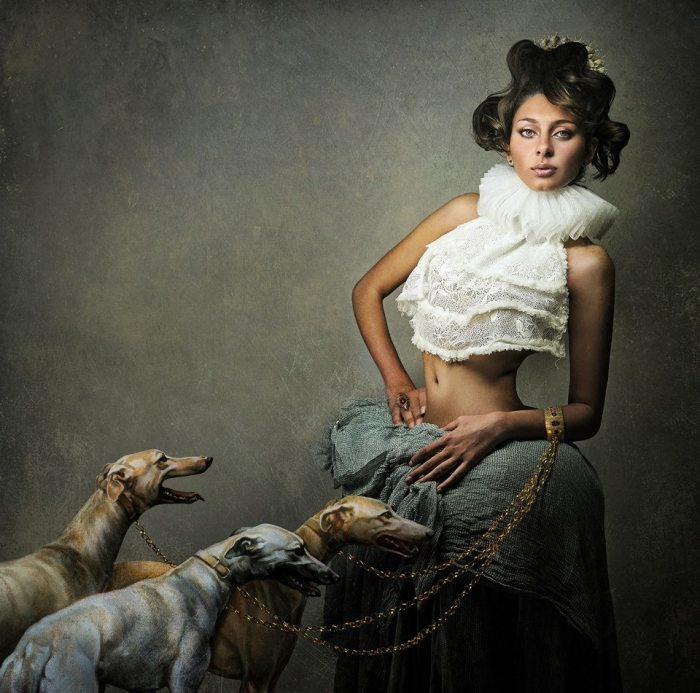 Дама с собаками. Авторы: Ze Diogo и Diamantino Jesus.