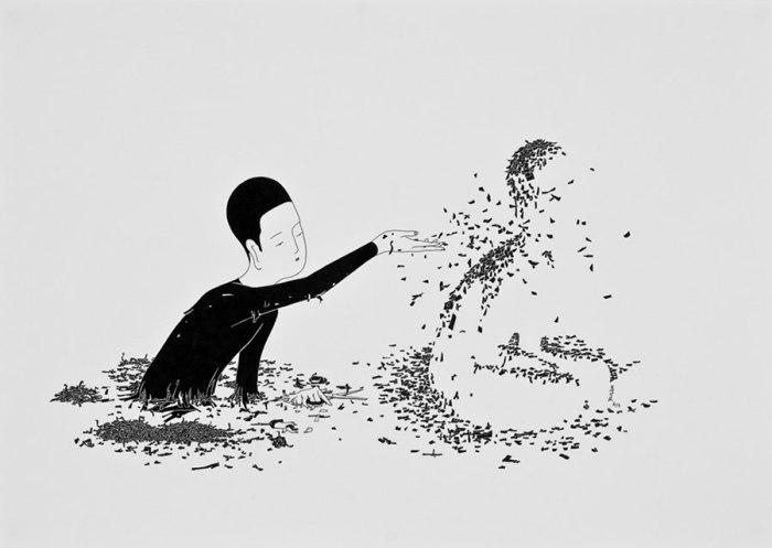Из-за тебя. Автор работ: Даехюн Ким (Daehyun Kim).