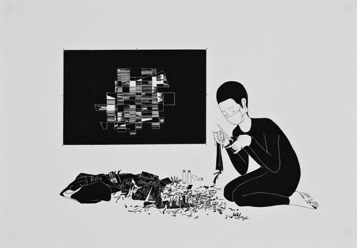 Абстрактный романтик. Автор работ: Даехюн Ким (Daehyun Kim).