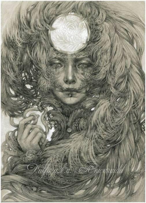 Полнолуние (Full moon). Волшебные работы Ольги Исаевой (Olga Isaeva).