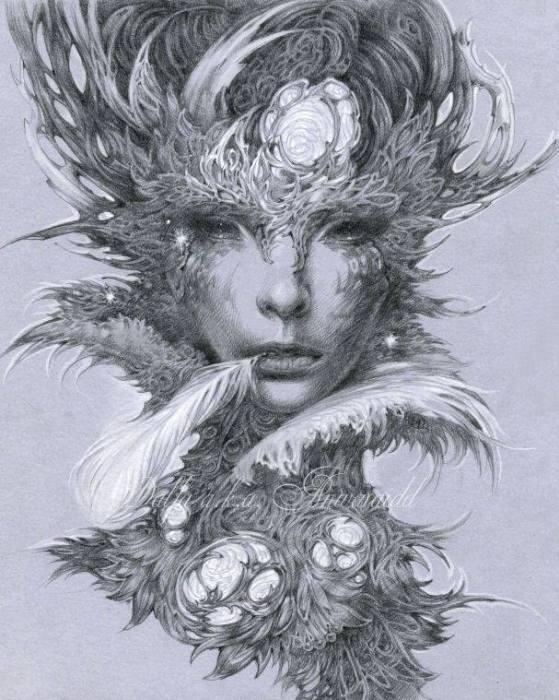 Эльф Кот (Elf cat). Волшебные работы Ольги Исаевой (Olga Isaeva).