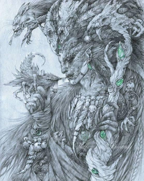 Шаман-эльф (Elf-witcher). Волшебные работы Ольги Исаевой (Olga Isaeva).