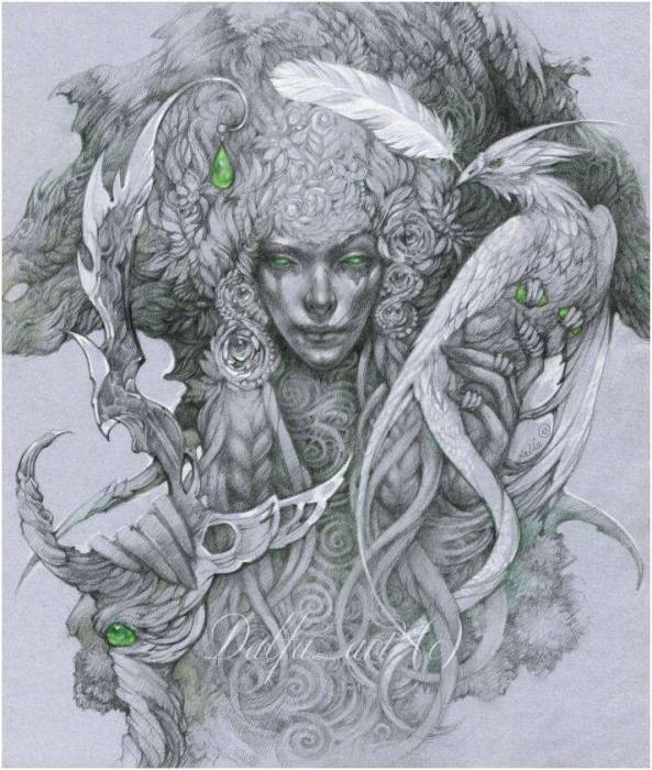 Дух Долгианского леса (Wood spirit). Волшебные работы Ольги Исаевой (Olga Isaeva).
