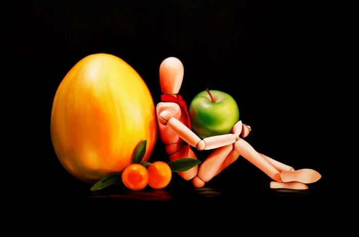 Зелёное яблоко. Автор: Damir May.