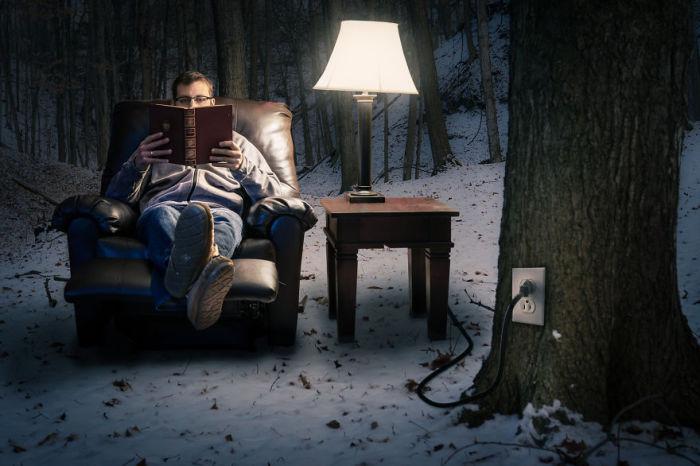 Чтение. Сюрреалистические работы от фотографа Дэн Кинг (Dan King).
