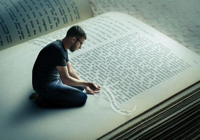 Буквы и страницы. Сюрреалистические работы от фотографа Дэн Кинг (Dan King).