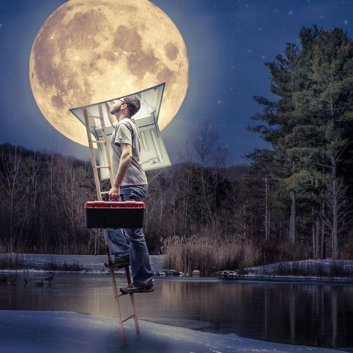 Там, где луна. Сюрреалистические работы от фотографа Дэн Кинг (Dan King).