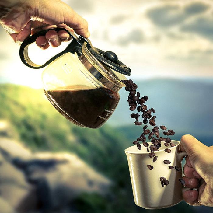 Утренний кофе. Сюрреалистические работы от фотографа Дэн Кинг (Dan King).