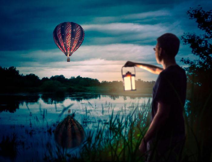 Таинственное озеро. Сюрреалистические работы от фотографа Дэн Кинг (Dan King).