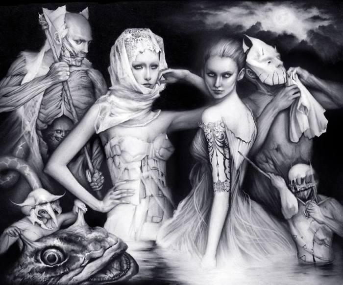 Богини, музы и ведьмы: Мистическо-интригующие портреты в стиле тёмного сюрреализма