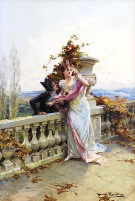 Кавалер и дама. Автор: Daniel Hernandez Morillo.