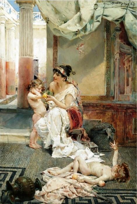 Женщина с детьми. Автор: Daniel Hernandez Morillo.